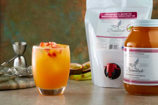 barmalade-passionfruitbarmalade cocktail with pouch